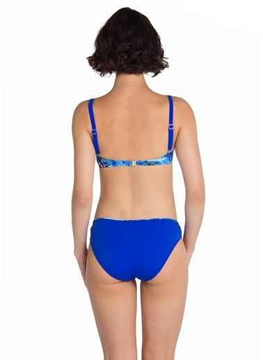 Dagi Balenli Tünelli Bikini Takım Saks